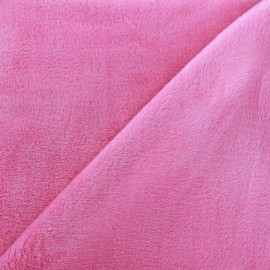 Sweat reverside Minkee velvet Fabric - pink x 10cm