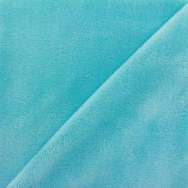 Tissu sweat envers minkee bleu givré x 10cm