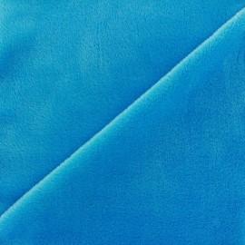 Sweat reverside Minkee velvet Fabric - azure x 10cm