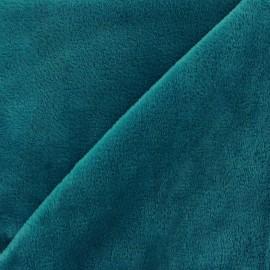 Sweat reverside Minkee velvet Fabric - peacock x 10cm
