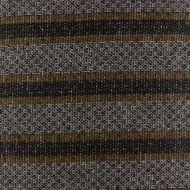 Tissu lainage léger Ellon rayures moutarde x 10cm