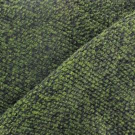 Tissu Lainage tricot vert x 10cm