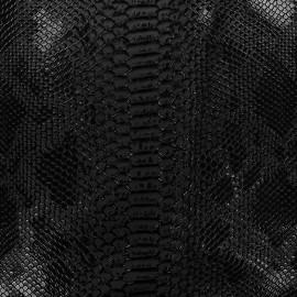 Simili cuir Comodo noir x 10cm