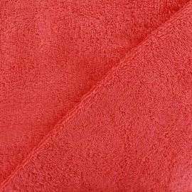 Tissu éponge Thalasso corail x 10cm