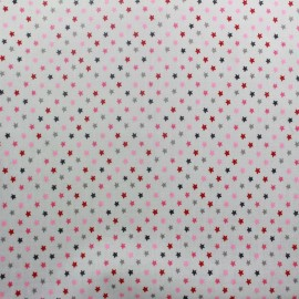 Sweet little stars coated cotton fabric - grey x 10cm