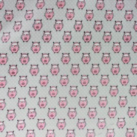 Sweet little creatures coated cotton fabric - grey x 10cm