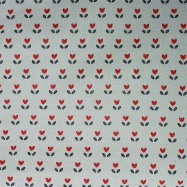 Sweet little tulip coated cotton fabric x 10cm
