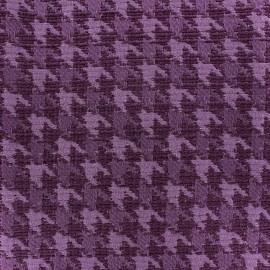 Tissu jacquard Pied de Poule  - violet x 10cm