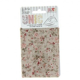 Iron on fabric floweri - beige
