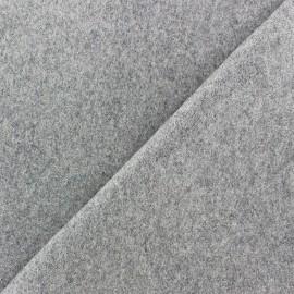 Wool broadcloth fabric - jight grey x 10cm