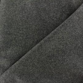Tissu drap de laine JAMES gris anthracite  x 10cm