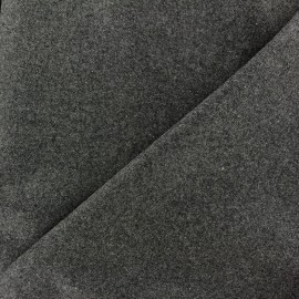 Wool broadcloth fabric James - anthracite grey x 10cm