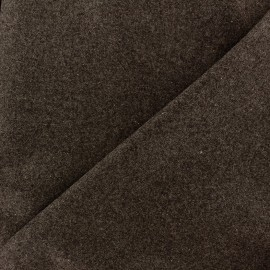 Wool broadcloth fabric - brown x 10cm