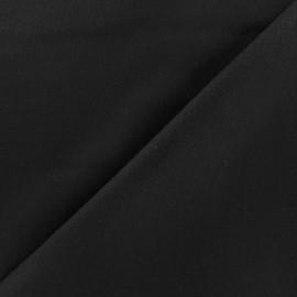 Tissu drap de laine JAMES noir x 10cm