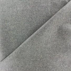 Tissu drap de laine JAMES gris clair x 10cm