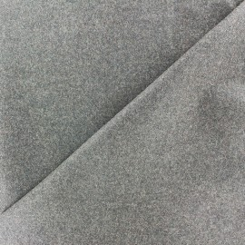 Wool broadcloth fabric - light grey x 10cm
