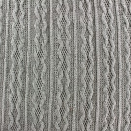Tissu Maille tricot Ireland gris clair x 10cm