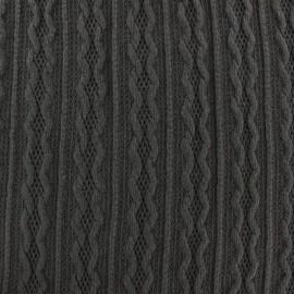 Tissu Maille tricot Ireland gris foncé x 10cm