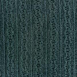 Tissu Maille tricot Ireland paon x 10cm