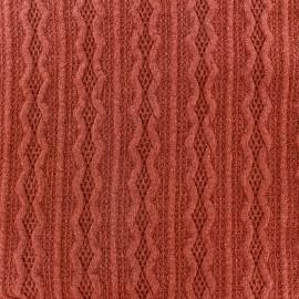 Tissu Maille tricot Ireland orange foncé x 10cm