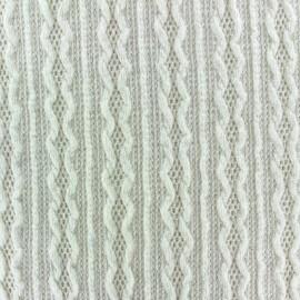 Tissu Maille tricot Ireland écru x 10cm