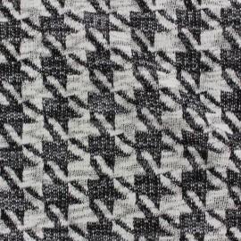 Tissu Jersey maille Pied de poule lurex x 10cm