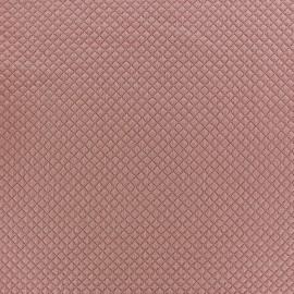 Tissu jersey matelassé Little Diamonds rose camay x 10cm
