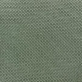 Tissu jersey matelassé Little Diamonds gris vert x 10cm