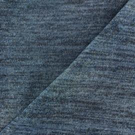 Light Stitch  flecked and lurex fabric  - blue x 10cm