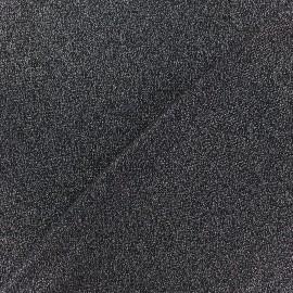 Tissu Maille légère lurex Glitter noir x 10cm