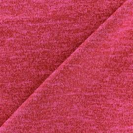Light Stitch lurex fabric Glitter - red fuchsia x 10cm