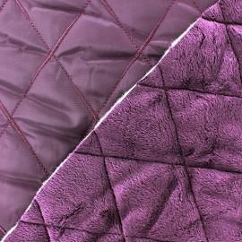 Tissu matelassé envers minkee violet x 10cm