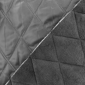 Tissu matelassé envers minkee gris x 10cm