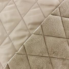 Tissu matelassé envers minkee beige x 10cm