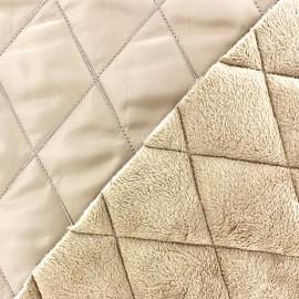 Tissu matelassé envers minkee beige clair x 10cm