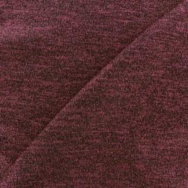 Tissu Maille légère lurex Glitter lie de vin x 10cm