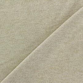 Tissu Maille viscose lurex Party or x 10cm