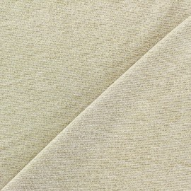 Tissu Maille viscose lurex Party or clair x 10cm