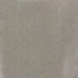 Coated linen canvas fabric Sienna  - silvery glitter