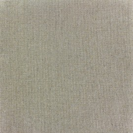 Coated linen canvas fabric Sienna  - gold glitter