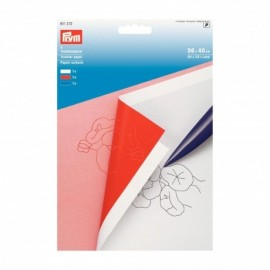 Transfer paper - white, red & blue