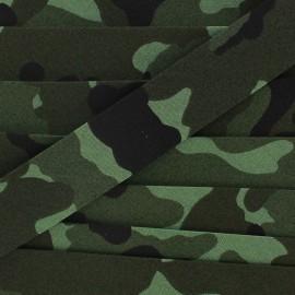 Bias binding, army x 1 m  - green
