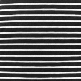 Tissu Jersey Blanco rayures blanc/noir x 10cm