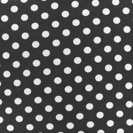 Tissu Jersey Blanco pois blanc/noir x 10cm