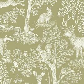 Tissu Coton Makower UK - Sherwood B x 32cm