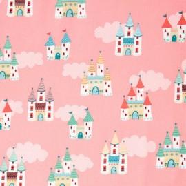 Tissu Coton Makower UK - Castles in Pink x 20cm
