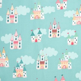 Tissu Coton Makower UK - Castles in Blue x 20cm
