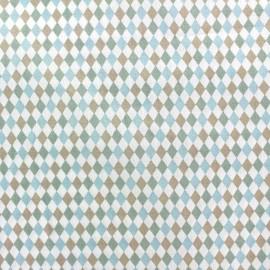 Tissu popeline Mini mini Diamond bleu x 10cm