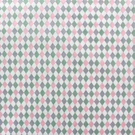Tissu popeline Mini mini Diamond rose x 10cm