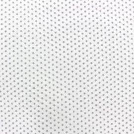 Tissu popeline Mini mini Stars taupe/blanc x 10cm